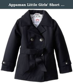 Appaman Little Girls' Short Trench Coat, Galaxy, 6. Lots of style and practicality this super soft short trench is water resistant and lined for extra warmth perfect all year round.