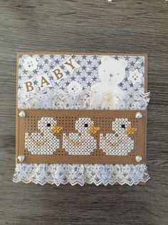 Embroidery Cards, Cross Stitch Embroidery, Cross Stitch Patterns, Mini Cross Stitch, Cross Stitch Cards, Easter Activities, Marianne Design, Baby Cards, Sewing Projects