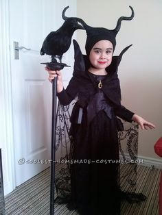Our Own 4 Year Old Maleficent. Maleficent Costume KidsMaleficent PartyGirl Halloween ...  sc 1 st  Pinterest & 540 best Halloween Costumes for Kids images on Pinterest | Diy ...