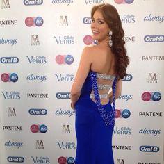 @ireneesser en un #Straccia en el #missvenezuela2014. Bella como siempre #glamour #style #fashion #couture #moda