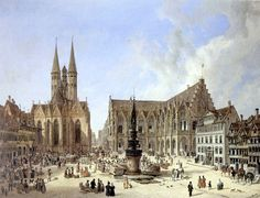 Domenico Quaglio - Braunschweig Altstadtmarkt, 1834 Town Hall, A4 Poster, Poster Prints, History Of Germany, Jose Rizal, Historical Monuments, Gothic Architecture, Sculpture, Vintage Artwork
