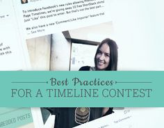 Now that contests and promotions are allowed on Facebook Page Timelines, there are a handful of best practices businesses should keep in mind before they decide to host one of their own. In today's post, …