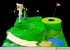 Golfer's 50th Birthday Cake | http://www.pinkcakebox.com/golfers-50th-birthday-cake-2012-04-01.htm
