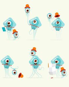 Character design and backgrounds for Minnesota Fringe festival. Monster Illustration, Flat Design Illustration, Graphic Illustration, Illustrations And Posters, Design Illustrations, Character Design, 2d Character, Mascot Design, Cute Monsters