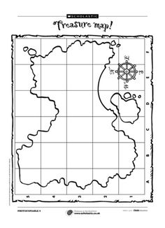 Ask children to plot where the treasure is buried on this outline map.