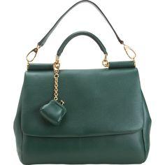 a2e85df12cc6 Dolce  amp  Gabbana Miss Sicily Bag in Green (gold) Isabella Rossellini