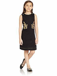 Versace Girl's Gold Leaf Dress