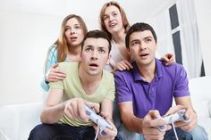Host a Video Game Party in Your Apartment #AGPinGiving Get guests to vote of favorite video games to play after dinner