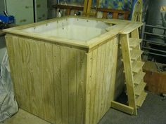 Here is a guide as to how we are building our birthing tub. We have two beautiful & healthy girls & a wonderful son, all born . Diy Swimming Pool, Diy Pool, Diy Patio, Jacuzzi Hot Tub, Spa Tub, Cosy Garden, Sauna Hammam, Jacuzzi Outdoor, Pallet Furniture