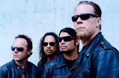 Lars Ulrich, James Hetfield, Kirk Hammett, and Robert Trujillo. James Hetfield, Robert Trujillo, Cliff Burton, Thrash Metal, Metallica Albums, Los Grammy, Enter Sandman, Fade To Black, Cultura Pop