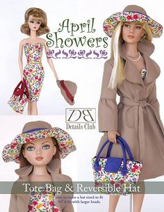 Free Copy of Pattern - April Showers Tote Bag & Reversible Hat