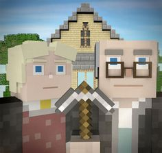 Minecraftian Gothic | 36 Pop Cultural Reinventions Of The American Gothic Painting