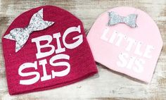 Big sister hat little sister hat newborn hat big sister gift take home outfit girls winter hat baby hat baby gift Baby Girl Hats, Girl With Hat, Toddler Party Favors, Beginner Knit Scarf, Girls Winter Hats, Big Sister Gifts, Little Mermaid Parties, Take Home Outfit, Baby Girl Birthday