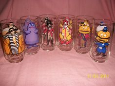 Set of 6 Vintage McDonald's Character Glasses GREAT by baythings70