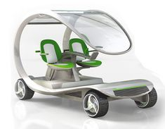 Eco friendly Golf Cart. Environmentally conscious. Yeah!