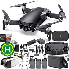 DJI Mavic Air Drone Quadcopter FLY MORE COMBO (Onyx Black) EVERYTHING YOU NEED Starters Bundle