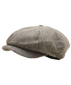 066013e698bba Men Woolen Tweed Gatsby Eight Panel Newsboy Hat Homespun Bakerboy Cap Brown  CV12N29YZ1A