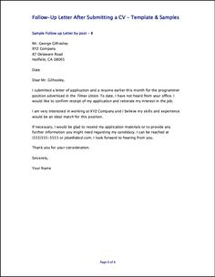 Follow Up Letter After Application from s-media-cache-ak0.pinimg.com