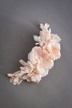 DAHLIA blush floral bridal headpiece | Percy Handmade