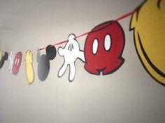 Guirnalda de Mickey Mouse para cumpleaños infantiles