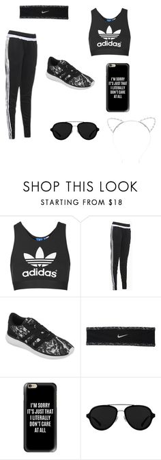 """◼️ALL BLACK EVERYTHING◼️"" by mkcoyne13 ❤ liked on Polyvore featuring Topshop, adidas, NIKE, Casetify, 3.1 Phillip Lim and Lipsy"