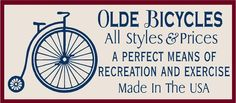 PRIMITIVE OLDE BICYCLES REUSABLE STENCIL .007 MIL FREE SHIPPING #FolkArtFromTheHarbor