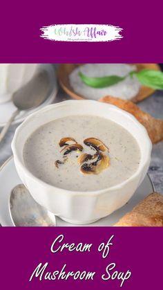 Cream Soup Recipes, Mushroom Soup Recipes, Homemade Soup, Homemade Mushroom Soup, Mushroom Cream Soup, Creamed Mushrooms, Stuffed Mushrooms, Veg Soup, Chaat Recipe