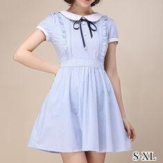 S-XL Blue Ocean Summer Sailor Dress SP152435