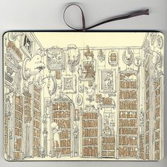 Moleskine sketchbook by Mattias Adolfsson