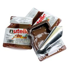 Nutella Chocolate Spread Mini Packs: 96CT Case - Compare Prices and... ❤ liked on Polyvore featuring food