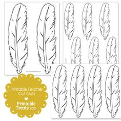 graphic about Printable Feather Cut Outs identified as Feather reduce