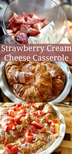 Strawberry cream cheese casserole - Ready for the most amazing breakfast ever? #breakfast #creamcheese