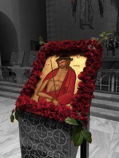 Icon of the Bridegroom- Holy Week 2017 Church Icon, Orthodox Easter, Church Flowers, Orthodox Christianity, Holy Week, Orthodox Icons, Fresh Flowers, Ikon, Icon Design