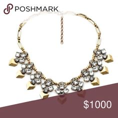 """Imogen Necklace This statement necklace is simply gorgeous. Half of the times would like to stay with the items I order. This one is layered in gorgeous large clear stones with a antique gold finish. Length: 19"""", Extender: Adds up to 2.5""""        100% Authentic. Jewelry Necklaces"""