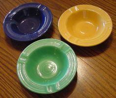 Price of Vintage Fiestaware | Set of vintage Fiesta ashtrays