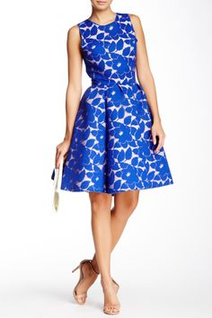 Fit and Flare Blue Floral A-Line Dress. So pretty! Dress Up 603555e129