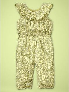 This romper looks perfect for the warmer months...(and it's lovely to see girls' clothes not in pink!)