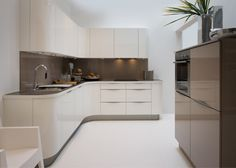 Nolte curved kitchens are a recent addition to this German designer kitchen range