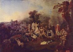 The Camp by @artistwatteau #rococo