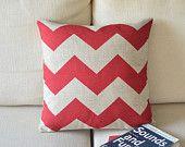 Red Chevron Pillows!