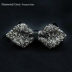 Men Rhinestone Shining Diamond Wedding Bow Tie New Arrival Fashion Special Show Cravat Designer Pointed Flat Booties