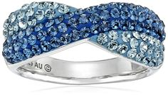 Sterling Silver Mix with Swarovski Elements Ring, Size 7 ** Find out more details by clicking the image : Jewelry Rings