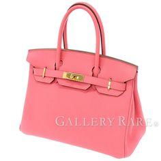 エルメス バーキン30 cm ハンドバッグ ローズリップスティック×ゴールド金具 トゴ P刻印 HERMES Birkin バッグ ピンク