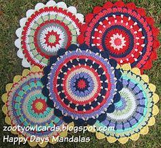 Happy Days Mandala pattern by zelna olivier - Free Crochet Pattern