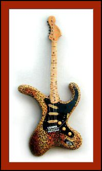 Brian Eastwood Guitars - Bender Distortorcaster. Many color variations. I liked leopard print! > RESEARCH #DdO:) - Despite twisted seeming impossible appearance of this INSTRUMENTS FOR JOY https://www.pinterest.com/DianaDeeOsborne/instruments-for-joy/ - it actually functions like a normal top-notch electric, thanks to numerous unique parts of the design. quality of construction & components. Not just for looks: Playability, ease of playing, and rich sounds are equally impressive.