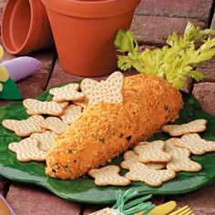 "Cheese ball ""carrot.""  Totally corny (or cheesy, if you prefer), I know... but corny is okay on holidays IMO."