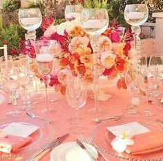 #coral #wedding #love