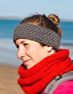 Hers Headband tweed grey colour #woolosophy