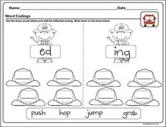 The Lesson Plan Diva: Inflectional Endings and Freebie!