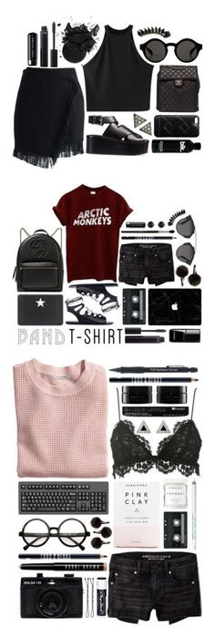 """""""Arctic Monkeys"""" by brynhawbaker ❤ liked on Polyvore featuring Chicnova Fashion, Chanel, Monki, Alexander Wang, Chicwish, Marc by Marc Jacobs, Jules Smith, ADORNIA, Marc Jacobs and American Eagle Outfitters"""